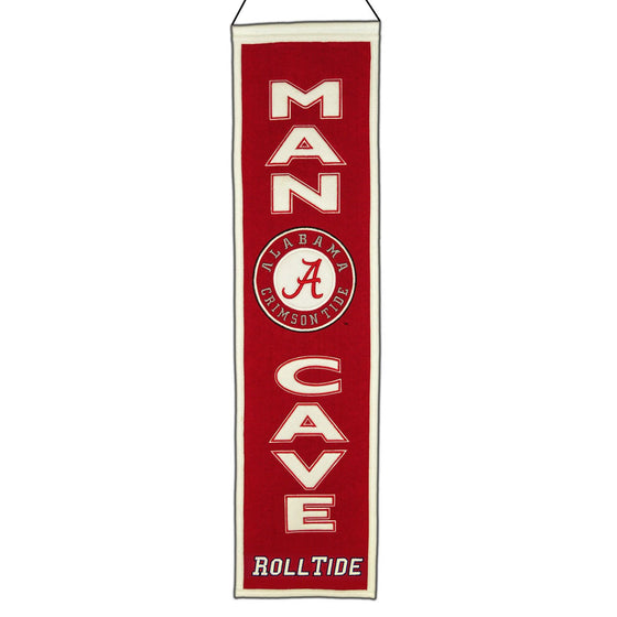 NCAA, Alabama, Banners - Narrow, Embroidered Banner, Officially licensed banner, Alabama gift