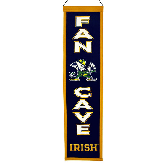 NCAA, Notre Dame, Banners - Narrow, Embroidered Banner, Officially licensed banner, Notre Dame gift