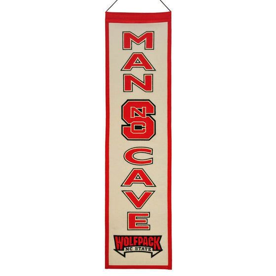 NCAA, North Carolina State, Banners - Narrow, Embroidered Banner, Officially licensed banner, North Carolina State gift