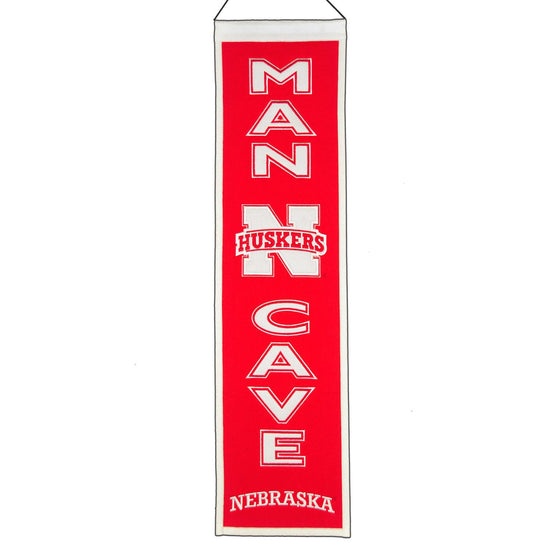 NCAA, Nebraska, Banners - Narrow, Embroidered Banner, Officially licensed banner, Nebraska gift