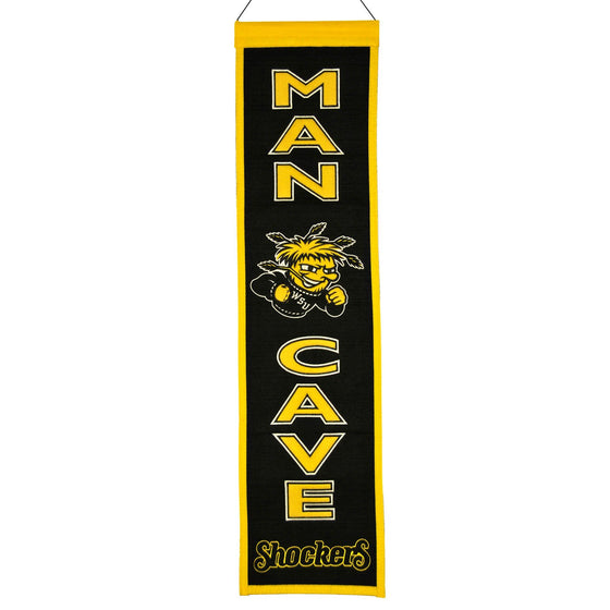 NCAA, Wichita State, Banners - Narrow, Embroidered Banner, Officially licensed banner, Wichita State gift