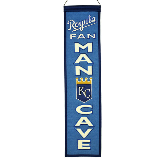 MLB, Kansas City Royals, Banners - Narrow, Embroidered Banner, Officially licensed banner, Kansas City Royals gift
