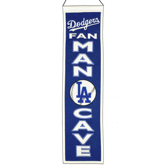 MLB, Los Angeles Dodgers, Banners - Narrow, Embroidered Banner, Officially licensed banner, Los Angeles Dodgers gift