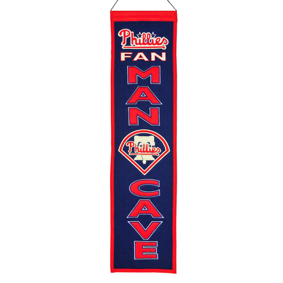 MLB, Philadelphia Phillies, Banners - Narrow, Embroidered Banner, Officially licensed banner, Philadelphia Phillies gift