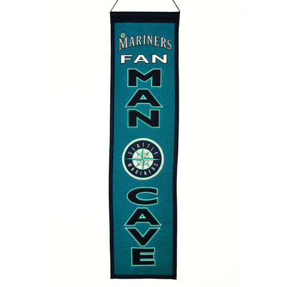 MLB, Seattle Mariners, Banners - Narrow, Embroidered Banner, Officially licensed banner, Seattle Mariners gift