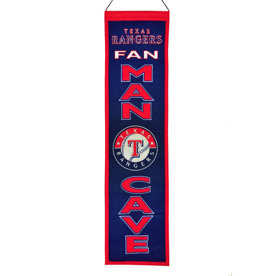MLB, Texas Rangers, Banners - Narrow, Embroidered Banner, Officially licensed banner, Texas Rangers gift