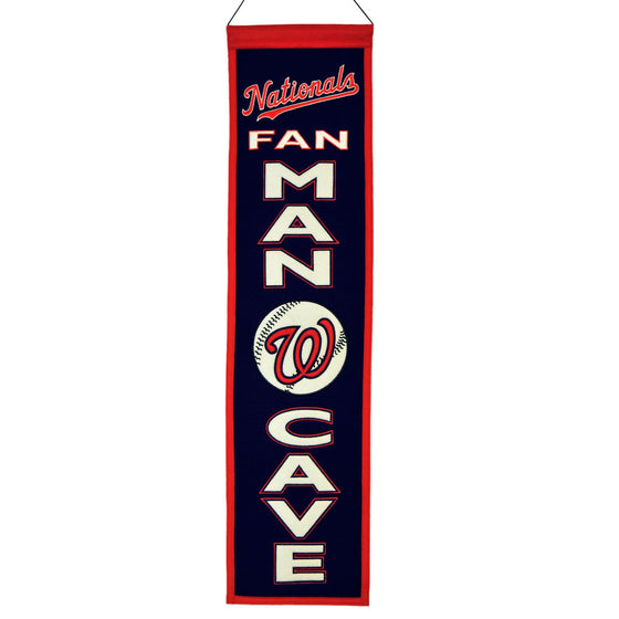 MLB, Washington Nationals, Banners - Narrow, Embroidered Banner, Officially licensed banner, Washington Nationals gift