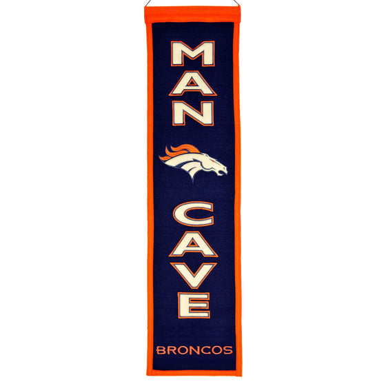 NFL, Denver Broncos, Banners - Narrow, Embroidered Banner, Officially licensed banner, Denver Broncos gift