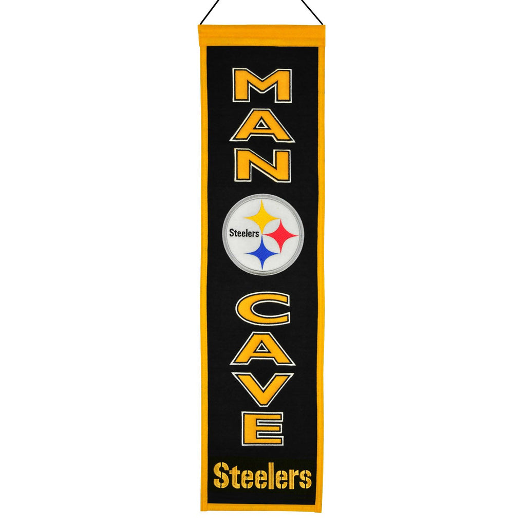 NFL, Pittsburgh Steelers, Banners - Narrow, Embroidered Banner, Officially licensed banner, Pittsburgh Steelers gift