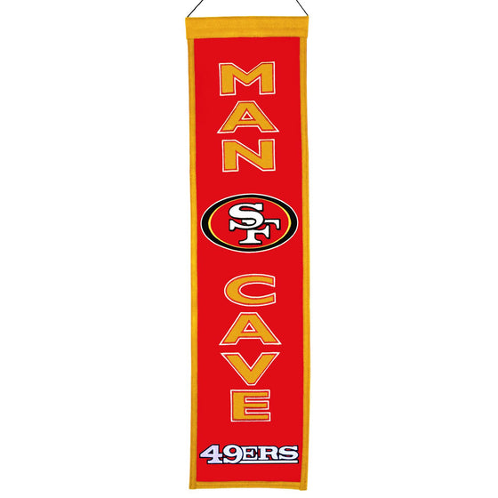 NFL, San Francisco 49ers, Banners - Narrow, Embroidered Banner, Officially licensed banner, San Francisco 49ers gift