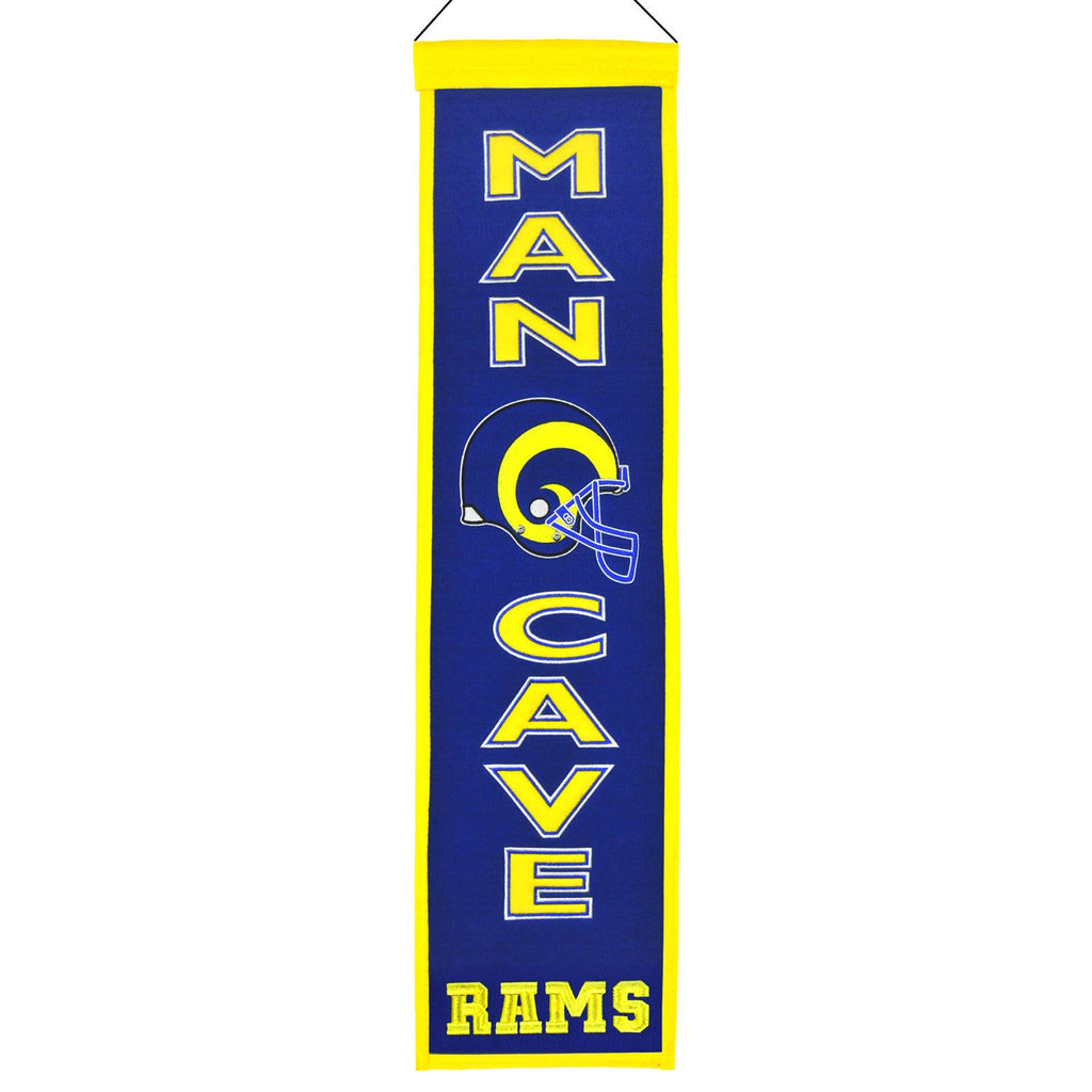 NFL, St. Louis Rams, Banners - Narrow, Embroidered Banner, Officially licensed banner, St. Louis Rams gift