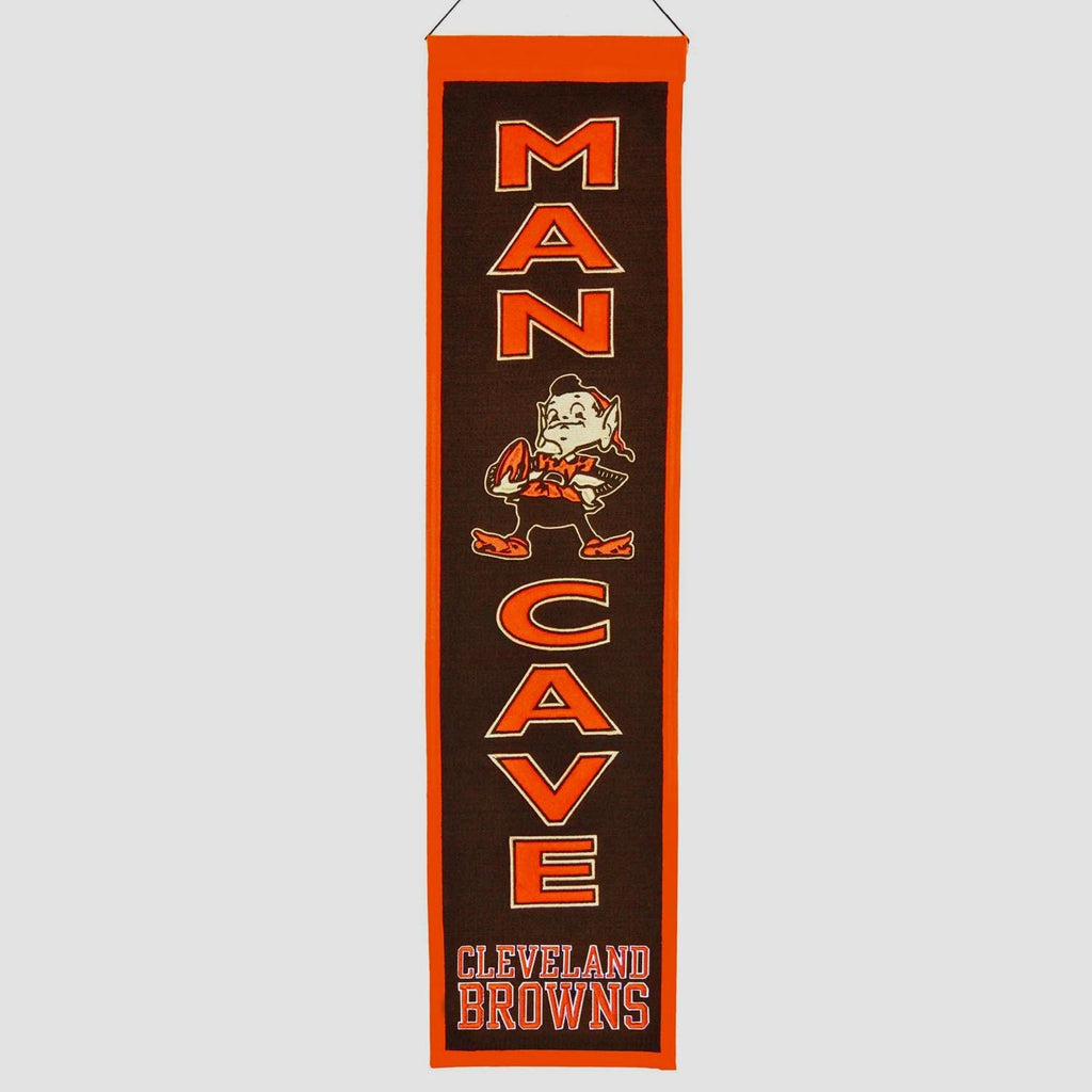 NFL, Cleveland Browns, Banners - Narrow, Embroidered Banner, Officially licensed banner, Cleveland Browns gift