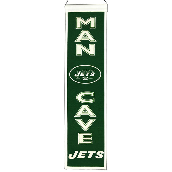 NFL, New York Jets, Banners - Narrow, Embroidered Banner, Officially licensed banner, New York Jets gift