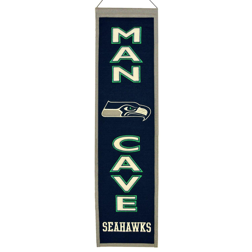 NFL, Seattle Seahawks, Banners - Narrow, Embroidered Banner, Officially licensed banner, Seattle Seahawks gift