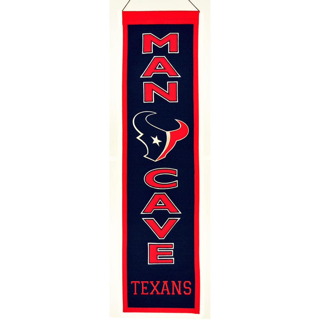NFL, Houston Texans, Banners - Narrow, Embroidered Banner, Officially licensed banner, Houston Texans gift