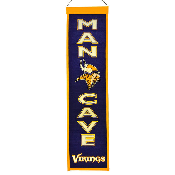 NFL, Minnesota Vikings, Banners - Narrow, Embroidered Banner, Officially licensed banner, Minnesota Vikings gift