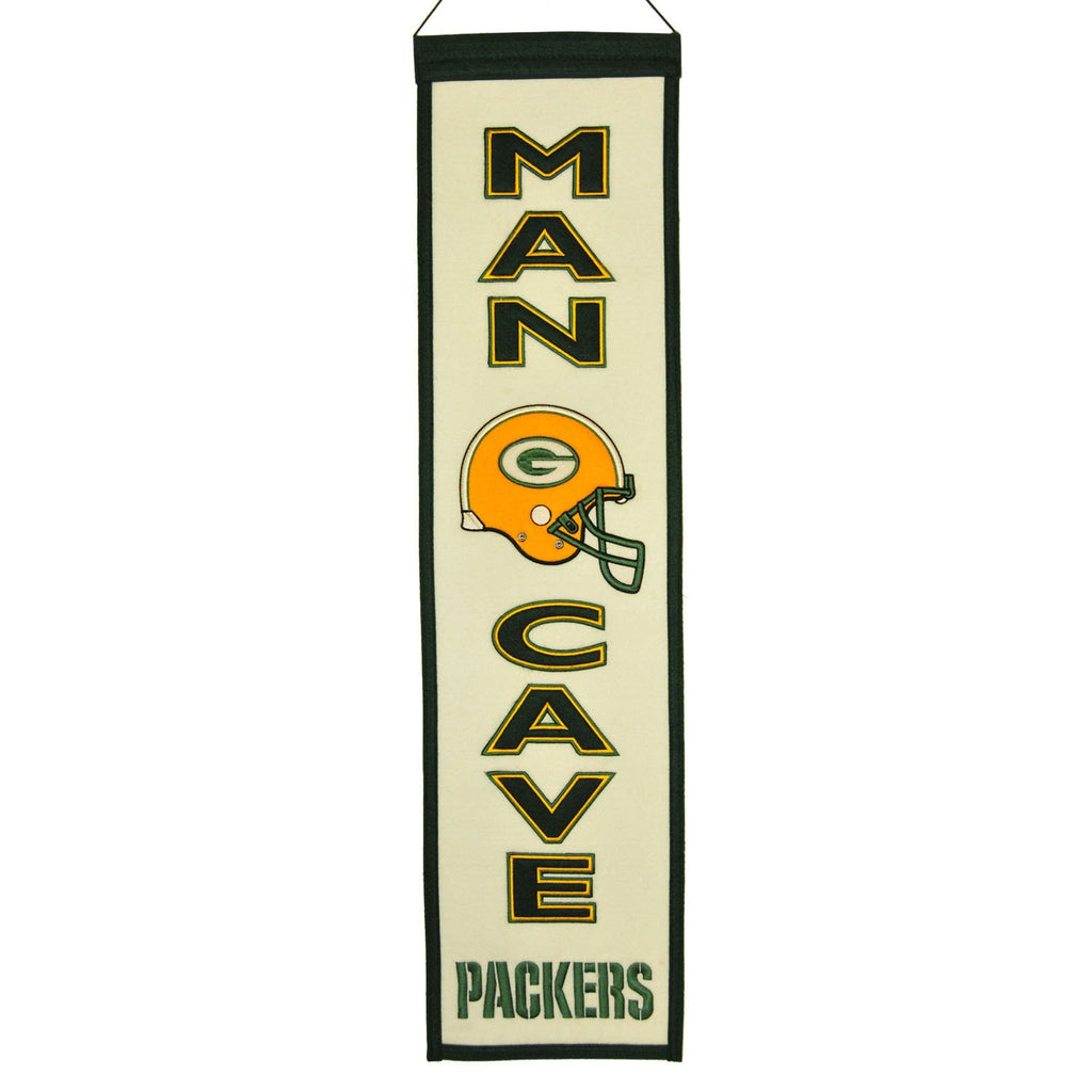 NFL, Green Bay Packers, Banners - Narrow, Embroidered Banner, Officially licensed banner, Green Bay Packers gift
