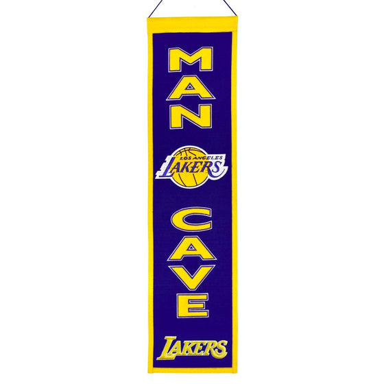NBA, Los Angeles Lakers, Banners - Narrow, Embroidered Banner, Officially licensed banner, Los Angeles Lakers gift