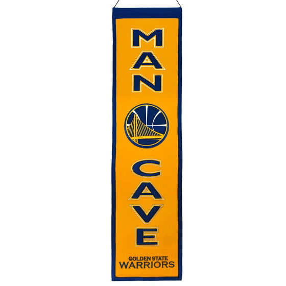 NBA, Golden State Warriors, Banners - Narrow, Embroidered Banner, Officially licensed banner, Golden State Warriors gift