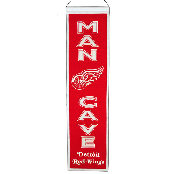 NHL, Detroit Red Wings, Banners - Narrow, Embroidered Banner, Officially licensed banner, Detroit Red Wings gift
