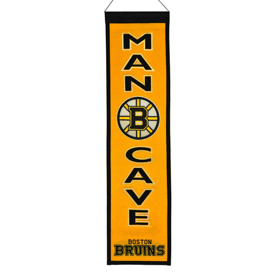 NHL, Boston Bruins, Banners - Narrow, Embroidered Banner, Officially licensed banner, Boston Bruins gift