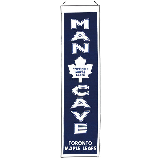 NHL, Toronto Maple Leafs, Banners - Narrow, Embroidered Banner, Officially licensed banner, Toronto Maple Leafs gift