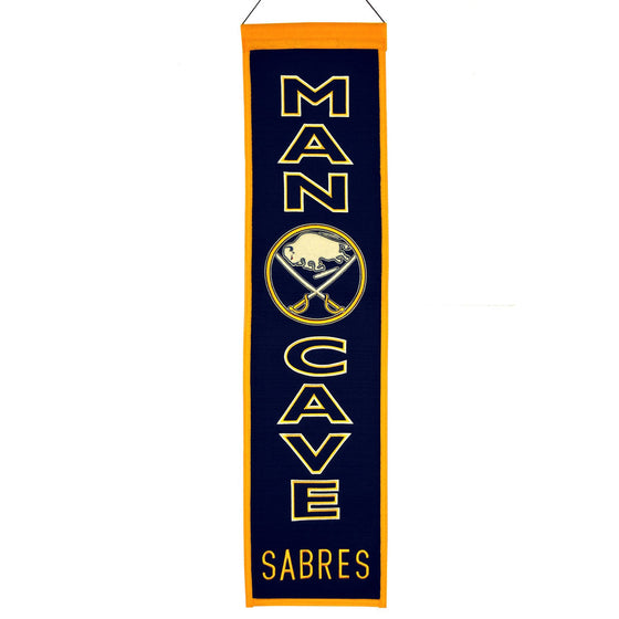 NHL, Buffalo Sabres, Banners - Narrow, Embroidered Banner, Officially licensed banner, Buffalo Sabres gift