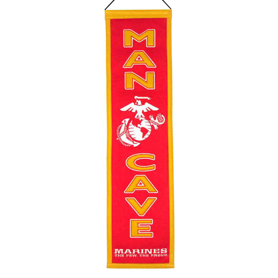America - Military, US Marines, Banners - Narrow, Embroidered Banner, Officially licensed banner, US Marines gift