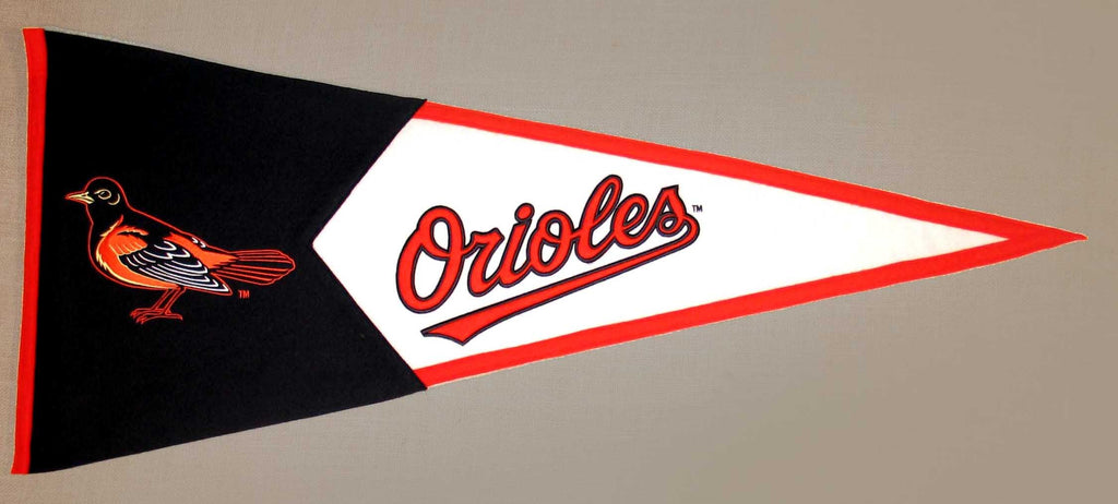 MLB, Baltimore Orioles, Pennants - Horizontal, Embroidered Pennant, Officially licensed pennant, Baltimore Orioles gift