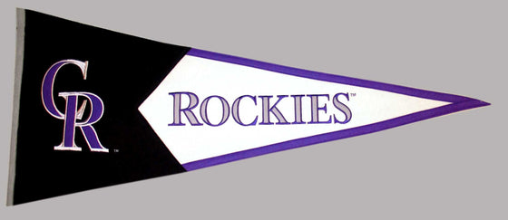 MLB, Colorado Rockies, Pennants - Horizontal, Embroidered Pennant, Officially licensed pennant, Colorado Rockies gift