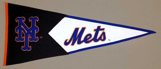 MLB, New York Mets, Pennants - Horizontal, Embroidered Pennant, Officially licensed pennant, New York Mets gift
