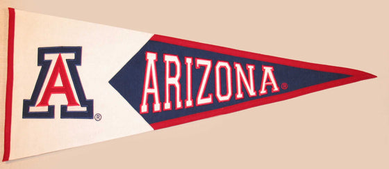 NCAA, Arizona, Pennants - Horizontal, Embroidered Pennant, Officially licensed pennant, Arizona gift