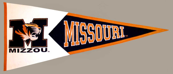 NCAA, Missouri, Pennants - Horizontal, Embroidered Pennant, Officially licensed pennant, Missouri gift