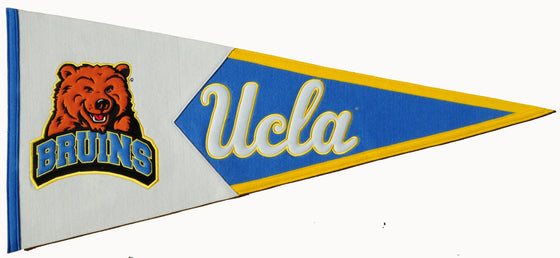 NCAA, UCLA, Pennants - Horizontal, Embroidered Pennant, Officially licensed pennant, UCLA gift
