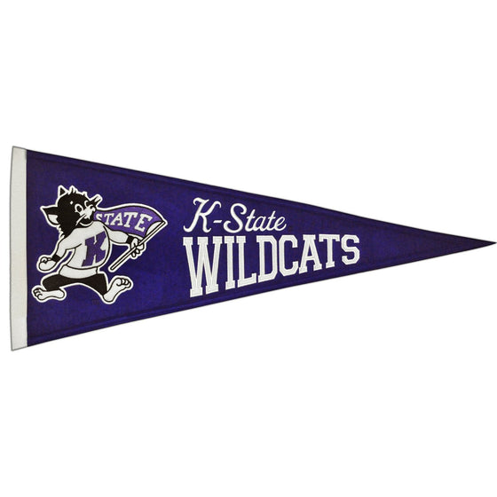 NCAA, Kansas State, Pennants - Horizontal, Embroidered Pennant, Officially licensed pennant, Kansas State gift