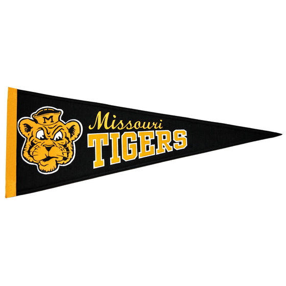 NCAA, Missouri, Pennants - Vertical, Embroidered Pennant, Officially licensed pennant, Missouri gift