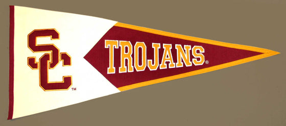 NCAA, Southern California / USC, Pennants - Horizontal, Embroidered Pennant, Officially licensed pennant, Southern California / USC gift
