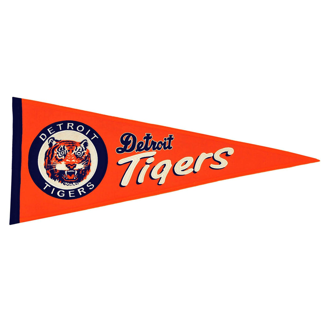 MLB, Detroit Tigers, Pennants - Horizontal, Embroidered Pennant, Officially licensed pennant, Detroit Tigers gift