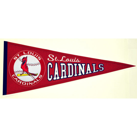 MLB, St. Louis Cardinals, Pennants - Horizontal, Embroidered Pennant, Officially licensed pennant, St. Louis Cardinals gift