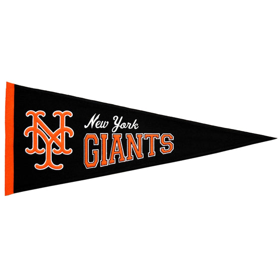 MLB, San Francisco Giants, New York Giants baseball, Pennants - Horizontal, Embroidered Pennant, Officially licensed pennant, San Francisco Giants gift