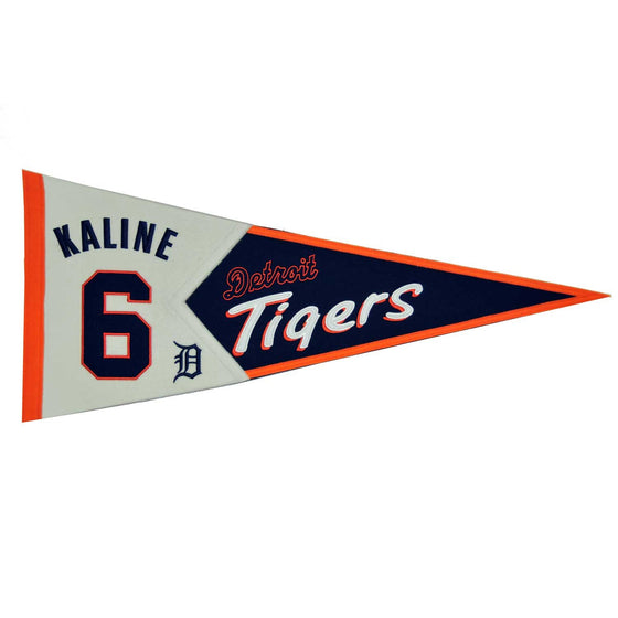 MLB, Detroit Tigers, Al Kaline, Pennants - Horizontal, Embroidered Pennant, Officially licensed pennant, Detroit Tigers gift
