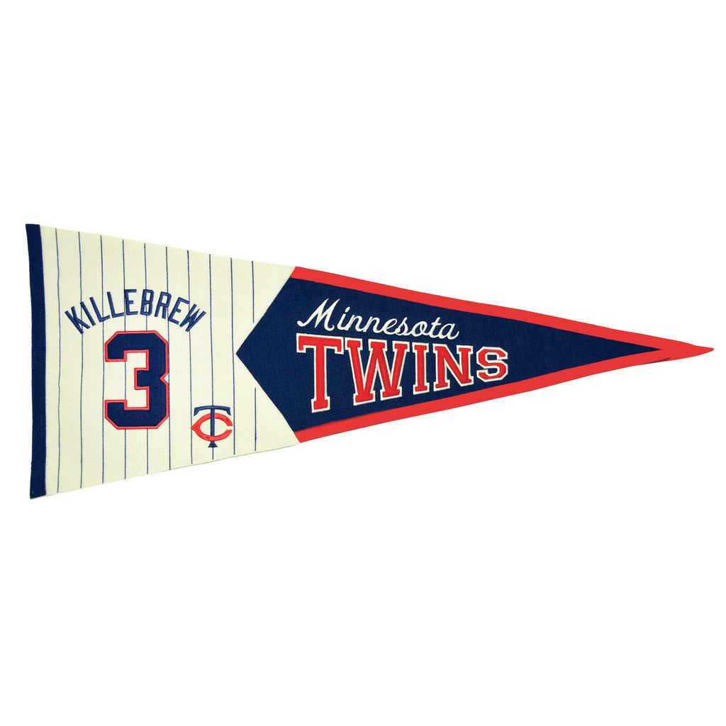 MLB, Minnesota Twins, Harmon Killebrew, Pennants - Horizontal, Embroidered Pennant, Officially licensed pennant, Minnesota Twins gift