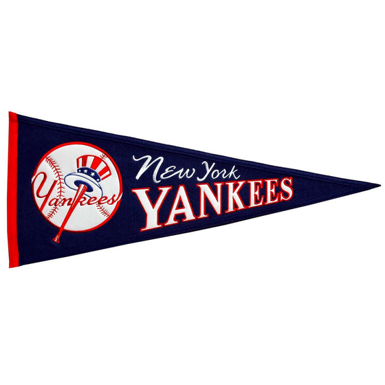 MLB, New York Yankees, Pennants - Horizontal, Embroidered Pennant, Officially licensed pennant, New York Yankees gift