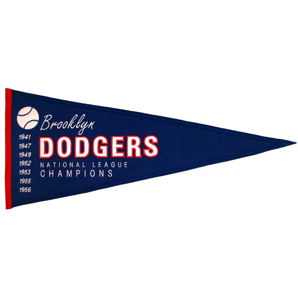MLB, Los Angeles Dodgers, Brooklyn Dodgers, Pennants - Horizontal, Embroidered Pennant, Officially licensed pennant, Los Angeles Dodgers gift