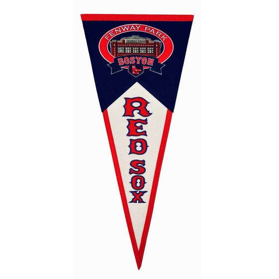 MLB, Boston Red Sox, Pennants - Horizontal, Embroidered Pennant, Officially licensed pennant, Boston Red Sox gift