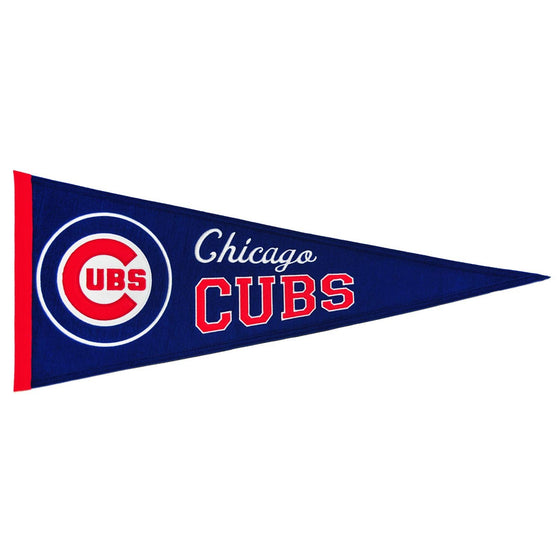 MLB, Chicago Cubs, Pennants - Horizontal, Embroidered Pennant, Officially licensed pennant, Chicago Cubs gift