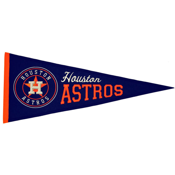 MLB, Houston Astros, Pennants - Horizontal, Embroidered Pennant, Officially licensed pennant, Houston Astros gift