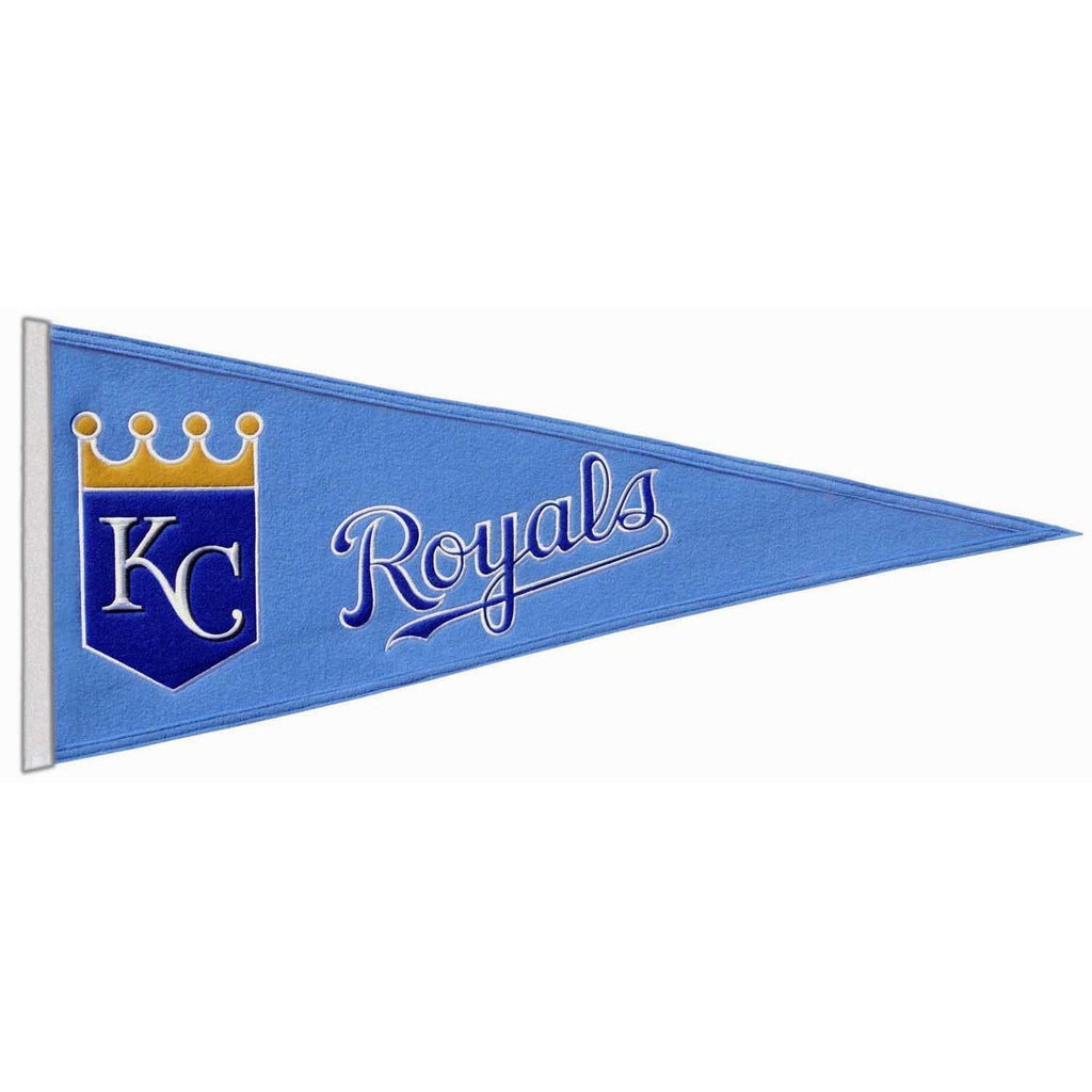 MLB, Kansas City Royals, Pennants - Horizontal, Embroidered Pennant, Officially licensed pennant, Kansas City Royals gift