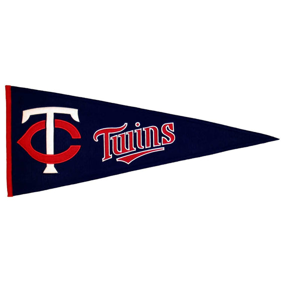 MLB, Minnesota Twins, Pennants - Horizontal, Embroidered Pennant, Officially licensed pennant, Minnesota Twins gift