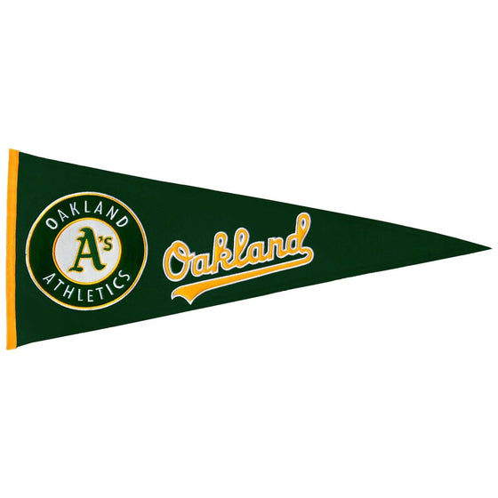 MLB, Oakland Athletics, Pennants - Horizontal, Embroidered Pennant, Officially licensed pennant, Oakland Athletics gift